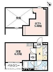 大阪府堺市堺区中之町西2丁の賃貸アパートの間取り