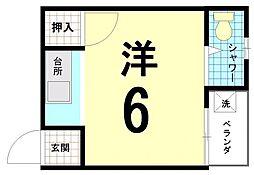 ハイツ松ヶ崎[3-C号室]の間取り