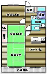 クレールメゾン[2階]の間取り