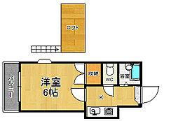 シエスタ別府[2階]の間取り