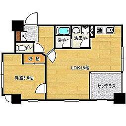 ハウスポンドビュー[305号室]の間取り