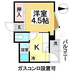 愛知県名古屋市瑞穂区惣作町1丁目の賃貸マンションの間取り