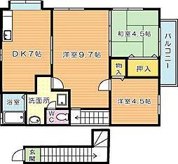エトワール木屋瀬[2階]の間取り