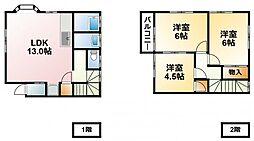 [テラスハウス] 千葉県大網白里市北飯塚 の賃貸【/】の間取り