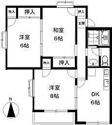 ラベンダー湘南[1階]の間取り