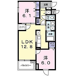美園東3丁目マンション[4階]の間取り