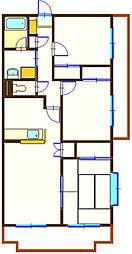 ヴィクトワール[2階]の間取り