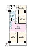 4LDK・南東角部屋 新規内装リフォーム実施・家具付きでお引渡しします