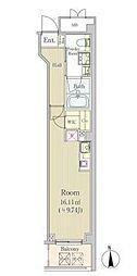 東京メトロ半蔵門線 半蔵門駅 徒歩1分の賃貸マンション 6階ワンルームの間取り