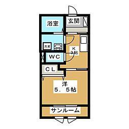 belle demeure[1階]の間取り