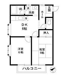 第2パープルハウス[2階]の間取り