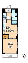 サンイング北松戸[3階]の間取り
