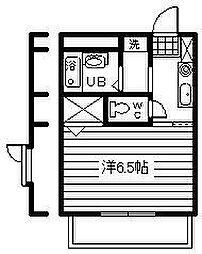 ヤマダハイツ[1階]の間取り