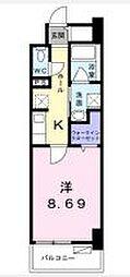 高松琴平電気鉄道長尾線 花園駅 徒歩4分の賃貸マンション 7階1Kの間取り