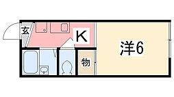 NISHIKI[203号室]の間取り
