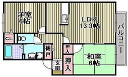 セジュールSAWA[101号室]の間取り