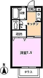サンセール富士見[B103号室]の間取り