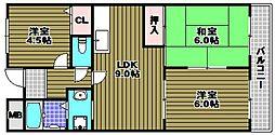 茱萸木壱番館[2階]の間取り