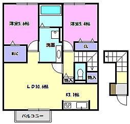 ルミエールKVI[2階]の間取り