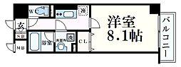 神戸市海岸線 みなと元町駅 徒歩2分の賃貸マンション 7階1Kの間取り