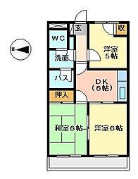レジデンス21[4階]の間取り