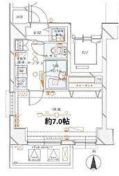 ブライズ東新宿[702号室号室]の間取り