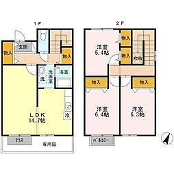 G's HOUSE I[102号室]の間取り