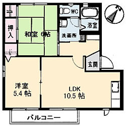 ハイネス高須台[2階]の間取り