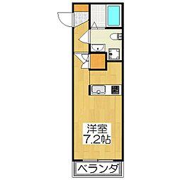 THE GARNET SUITE RESIDENCE深草[102号室]の間取り