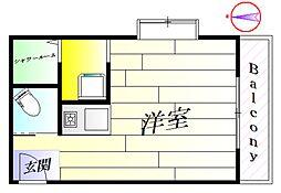 昭英ビルNO.9[3階]の間取り