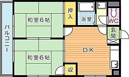 シャトレ若葉[5階]の間取り