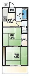 大竹コーポA[103号室]の間取り