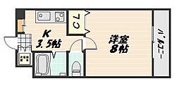 ハーシオンフルタIII[2階]の間取り