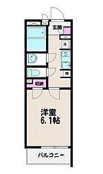 クレイノフラットメイト桜[203号室]の間取り