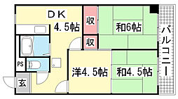 カロンズ鈴蘭台北町[306号室]の間取り