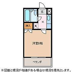 長野県松本市出川3丁目の賃貸マンションの間取り
