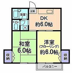 東京都小金井市本町3丁目の賃貸マンションの間取り