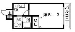 カッシア天王寺東[7階]の間取り