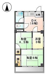 黒川旗ビル[8階]の間取り