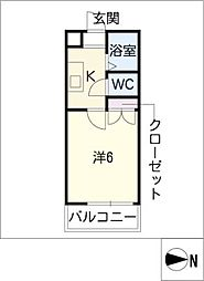 清光ハイツOSHIKIRI[1階]の間取り