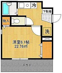 神奈川県横浜市西区浜松町の賃貸アパートの間取り