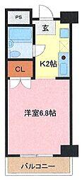 埼玉県さいたま市南区文蔵2丁目の賃貸マンションの間取り