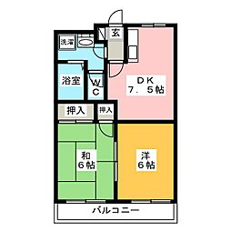 メゾネットみつる[3階]の間取り