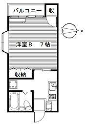 シャトルハイツ95[205号室]の間取り
