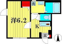 ウィング・ジムコ[1階]の間取り