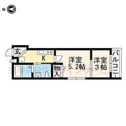 nico京都駅[103号室]の間取り