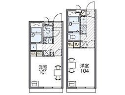 Osaka Metro谷町線 長原駅 徒歩5分の賃貸アパート 1階1Kの間取り