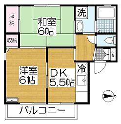 セジュール八潮[2階]の間取り