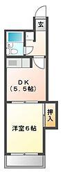 メゾンサプリーム[6階]の間取り