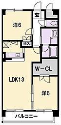 和田浜マンション[304号室]の間取り